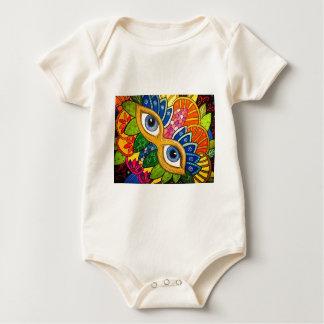 Venetian mask baby bodysuit