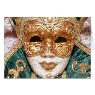 Venetian Mask Card
