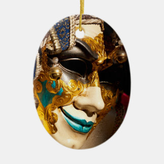 Venetian Mask Ceramic Ornament
