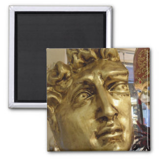 Venetian Mask Display Michael Angelo's David Square Magnet
