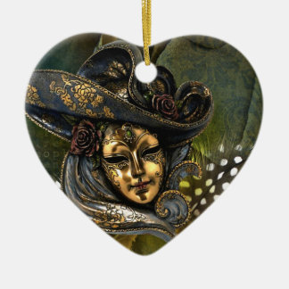 Venetian Mask Fantasy Ceramic Ornament