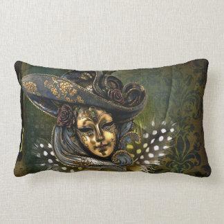 Venetian Mask Fantasy Lumbar Pillow