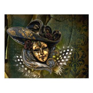 Venetian Mask Fantasy Postcard