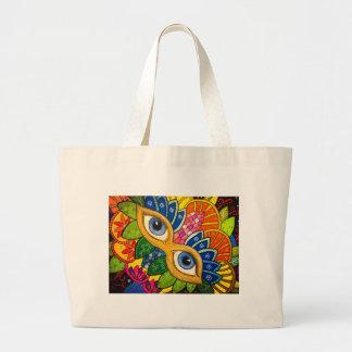 Venetian mask large tote bag