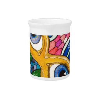 Venetian mask pitcher