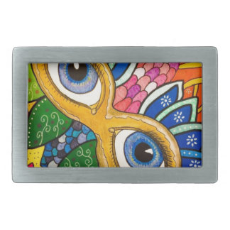 Venetian mask rectangular belt buckles