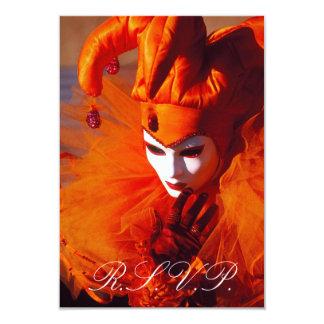 Venetian Mask RSVP Card