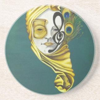 Venetian Mask Sandstone Coaster