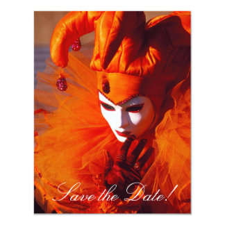Venetian Mask Save-the-Date Cards