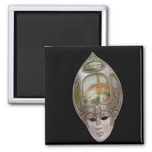 Venetian Mask Square Magnet