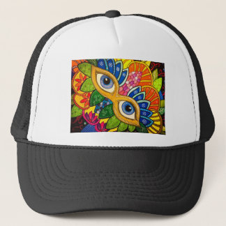 Venetian mask trucker hat