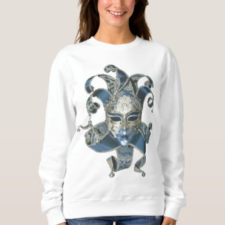 Venetian Mask White Sweatshirt