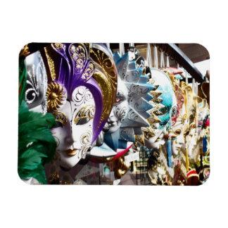Venetian Masks 1 Rectangular Photo Magnet