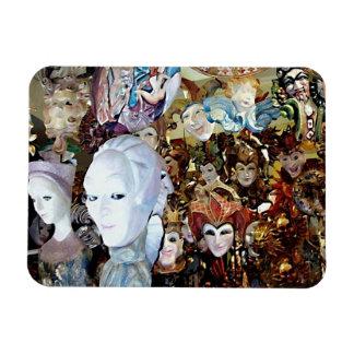 Venetian Masks 2 Rectangular Photo Magnet