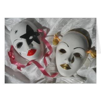 Venetian masks card