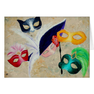 Venetian Masks Card