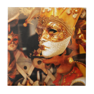 Venetian masks ceramic tile