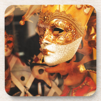 Venetian masks coaster