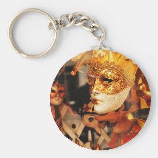 Venetian masks key ring