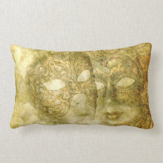 Venetian Masks Lumbar Pillow