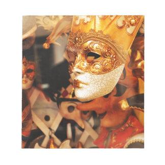 Venetian masks notepad