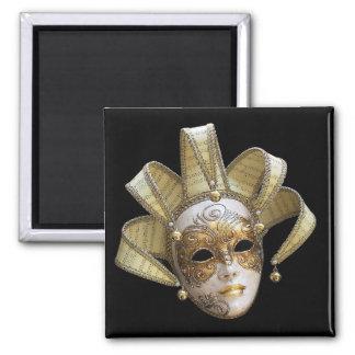 Venetian Masks Square Magnet