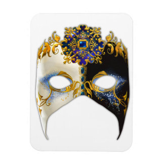 Venetian Masque: Sapphire Jewel Rectangular Photo Magnet