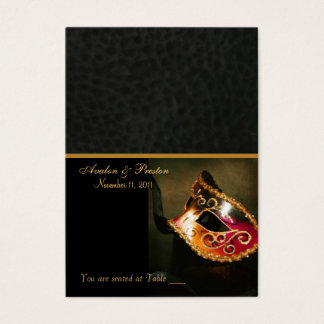 Venetian Masquerade Mask Placecard Business Card