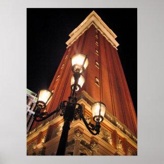 Venetian Street Light Las Vegas Poster