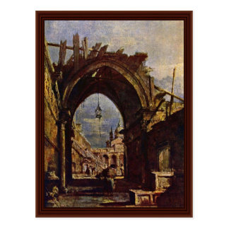 Venetian Vedute By Guardi Francesco Postcard
