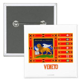 Veneto flag with name 15 cm square badge
