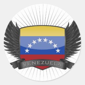 VENEZUELA CLASSIC ROUND STICKER