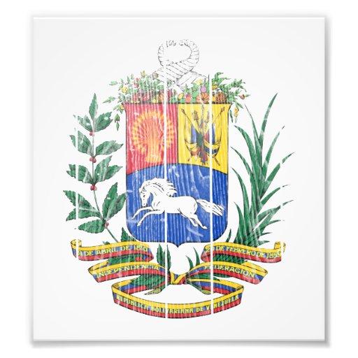 Venezuela Coat Of Arms Photographic Print
