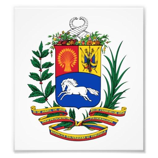 Venezuela Coat Of Arms Photo Art