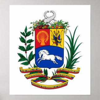 Venezuela Coat Of Arms Poster
