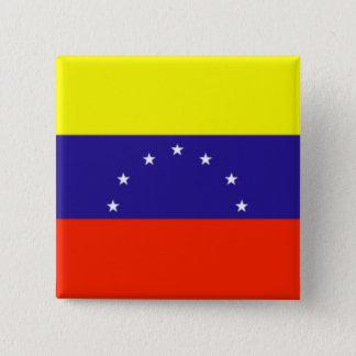Venezuela Flag 15 Cm Square Badge
