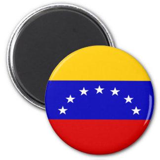 Venezuela Flag 6 Cm Round Magnet