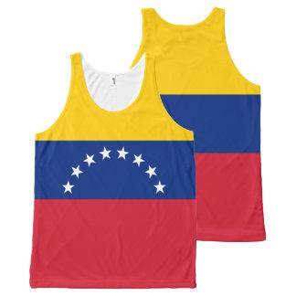 Venezuela Flag All-Over Print Singlet