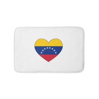 Venezuela Flag Heart Bath Mats