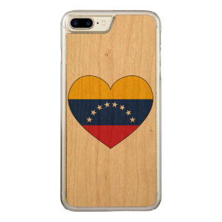 Venezuela Flag Heart Carved iPhone 8 Plus/7 Plus Case