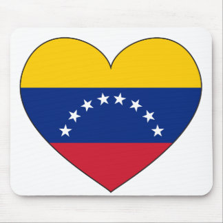 Venezuela Flag Heart Mouse Pad