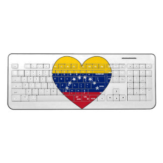 Venezuela Flag Heart Wireless Keyboard