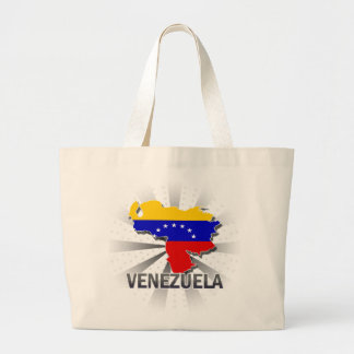 Venezuela Flag Map 2.0 Large Tote Bag