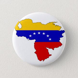 Venezuela flag map 6 cm round badge