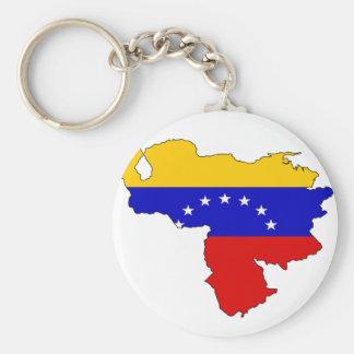 Venezuela flag map key ring