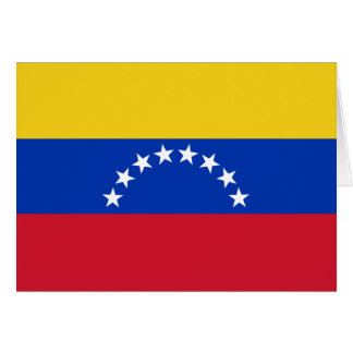 Venezuela Flag Note Card