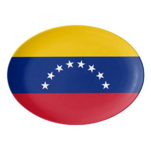 Venezuela flag porcelain serving platter