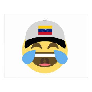 Venezuela Hat Laughing Emoji Postcard