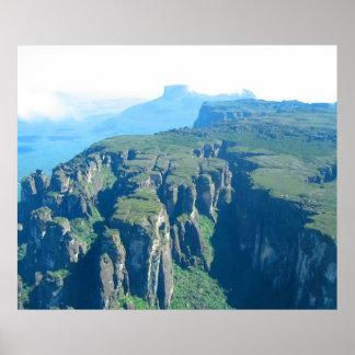 Venezuela Landscape from Airplane Photo Poster
