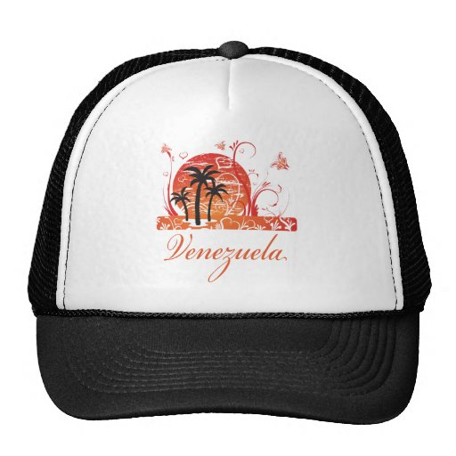 Venezuela Summer Palm Trees Cap Trucker Hat